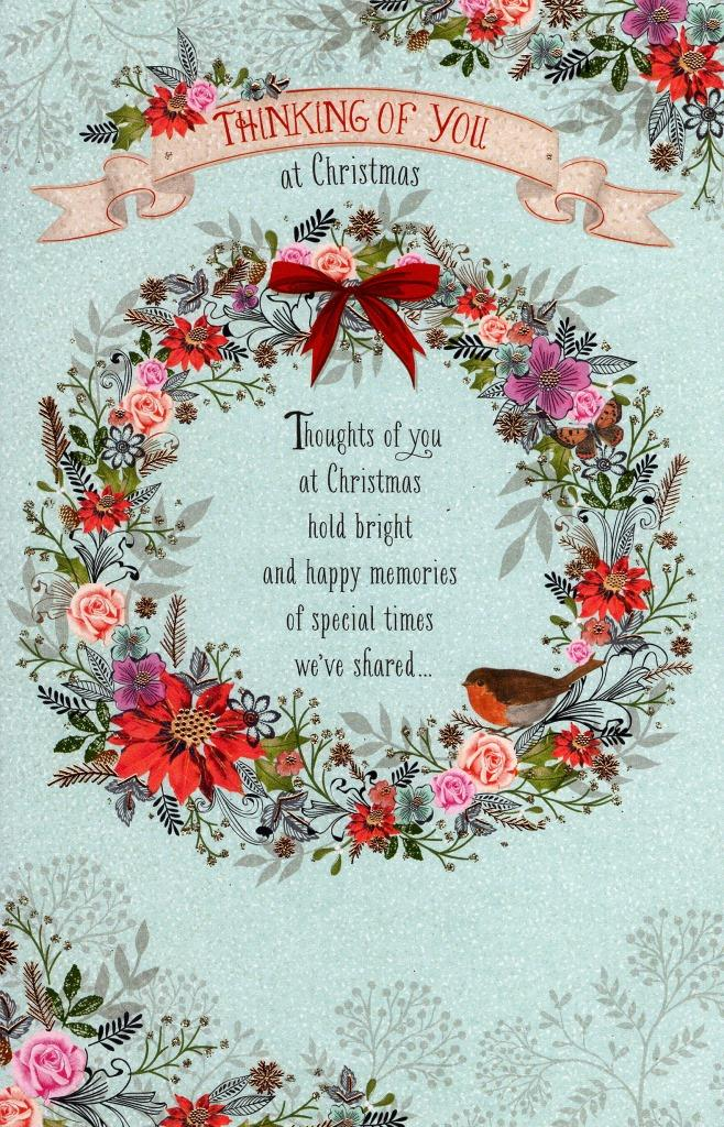 Traditional Thinking Of You At Christmas Greeting Card Lovely Verse ...