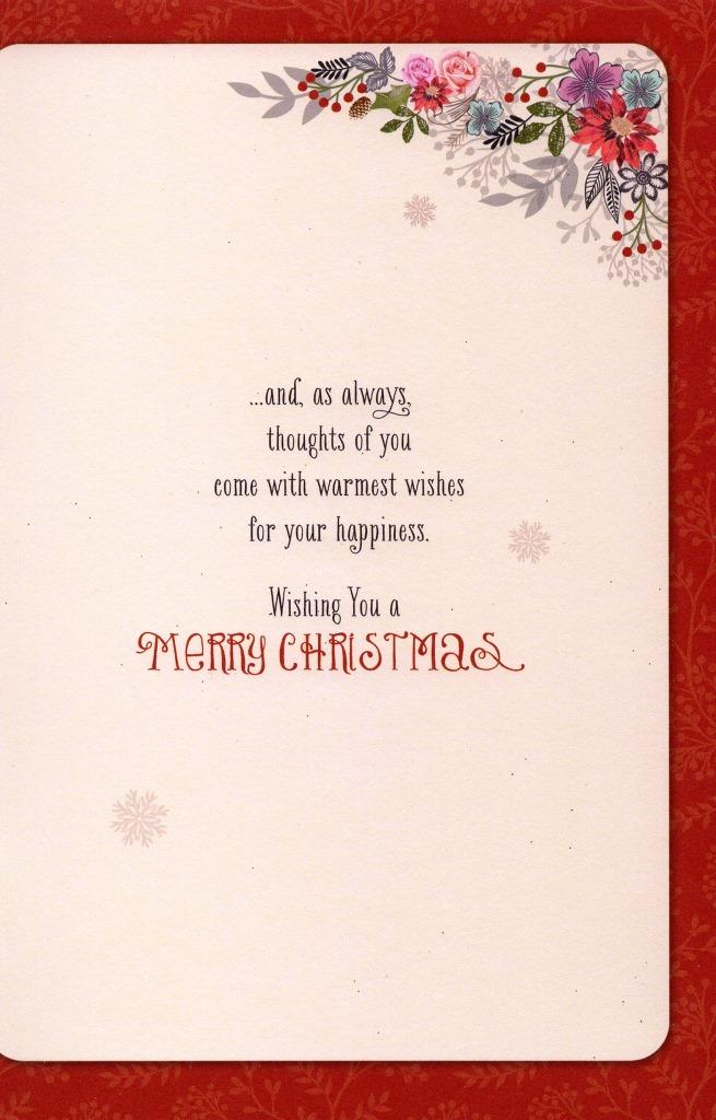 Traditional thinking of you at christmas greeting card lovely verse sentinel traditional thinking of you at christmas greeting card lovely verse xmas cards m4hsunfo