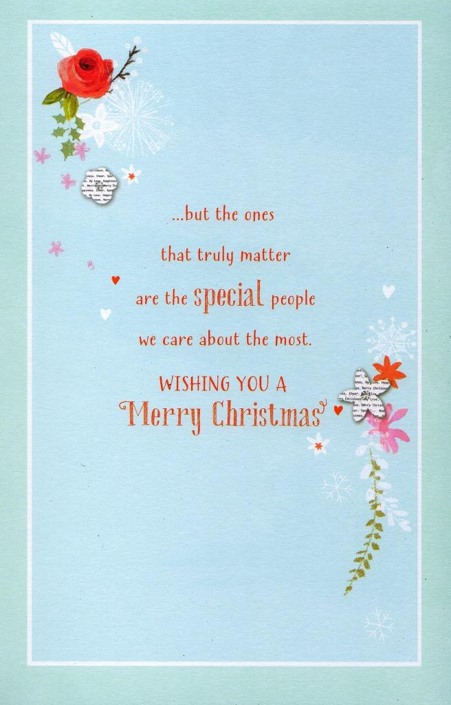 Traditional Thinking Of You At Christmas Greeting Card Lovely ...