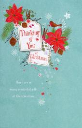 Traditional Thinking Of You At Christmas Greeting Card