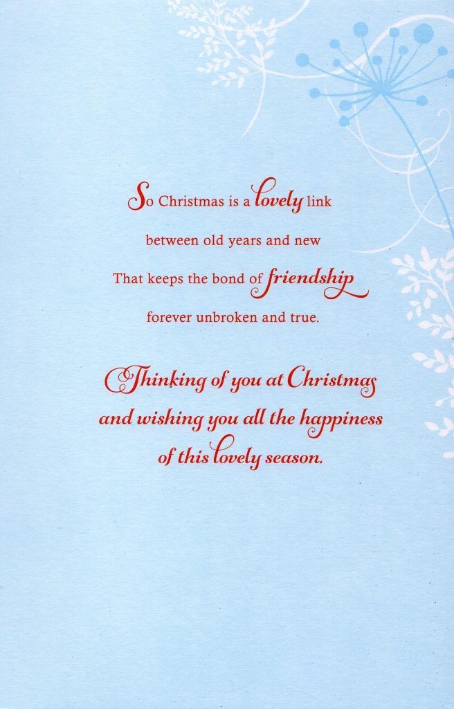 Helen Steiner Rice Christmas Friendship Greeting Card Lovely Verse