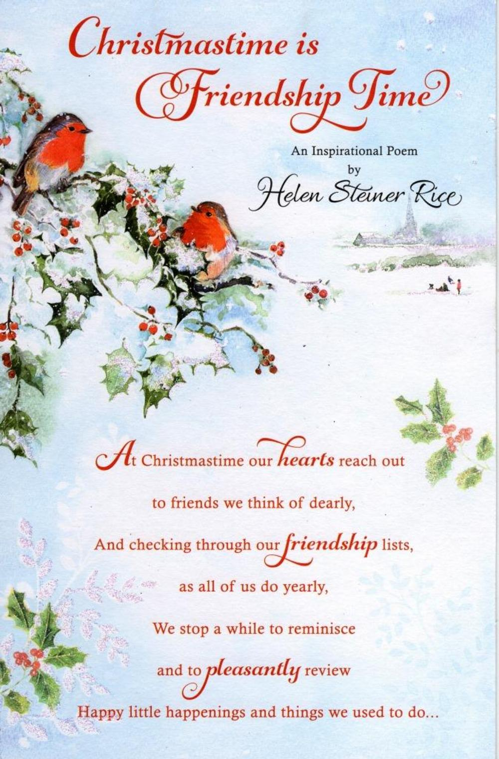 helen steiner rice christmas friendship greeting card cards love