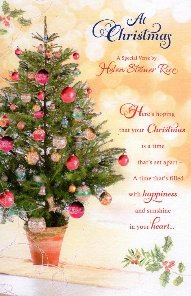 helen steiner rice christmas greeting card cards