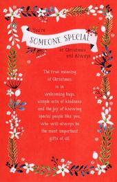 Traditional Someone Special At Christmas Greeting Card