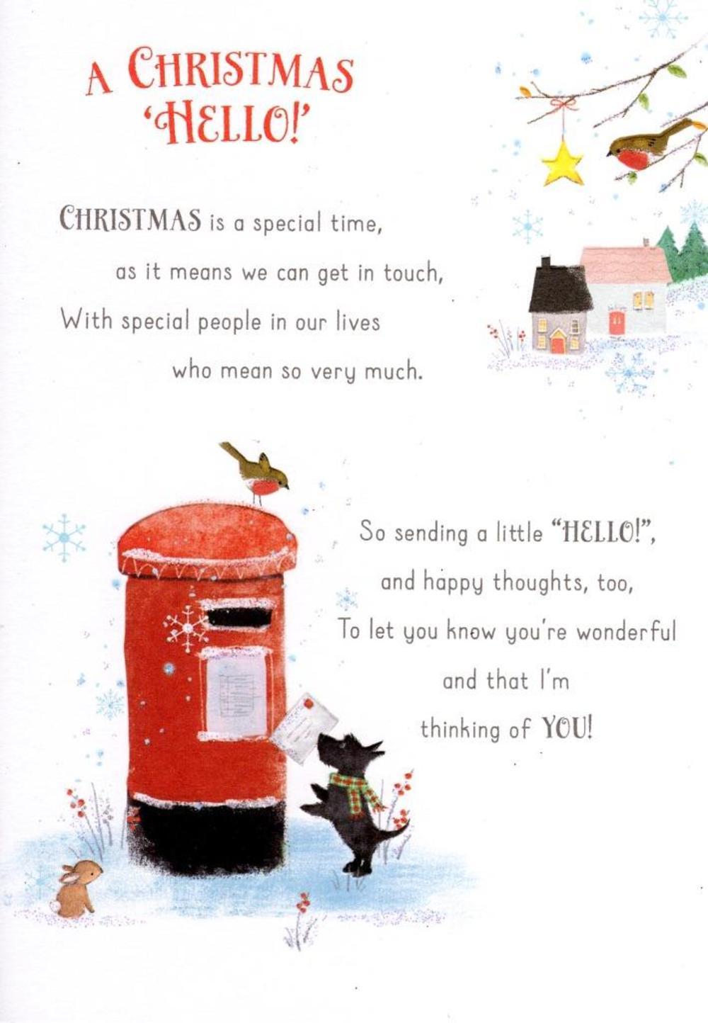 A Christmas Hello Christmas Friendship Greeting Card