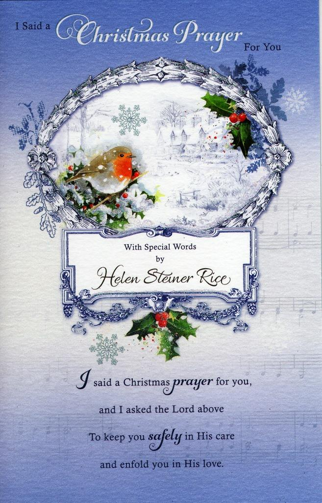 Helen Steiner Rice Religious Christmas Greeting Card Cards