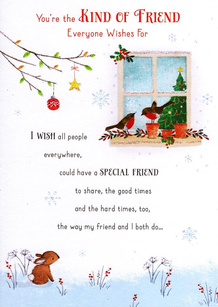 Traditional christmas friendship greeting card lovely verse xmas sentinel traditional christmas friendship greeting card lovely verse xmas cards m4hsunfo