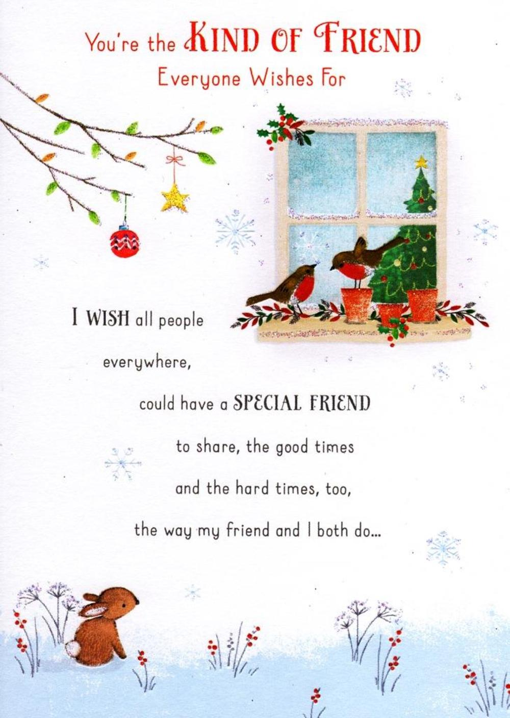 Traditional christmas friendship greeting card cards love kates traditional christmas friendship greeting card kristyandbryce Image collections