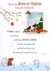Traditional Christmas Friendship Greeting Card