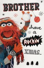 Muppets Brother Christmas Greeting Card