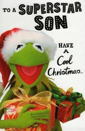 Muppets Superstar Son Christmas Greeting Card