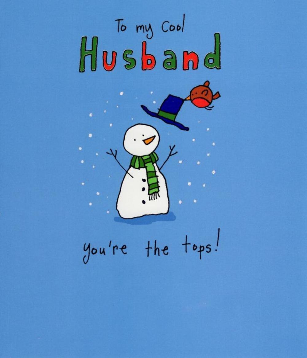 To My Cool Husband Christmas Greeting Car