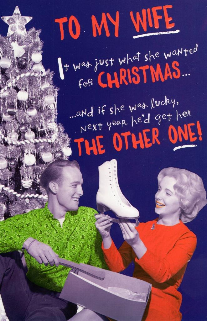 wife funny christmas greeting card  cards