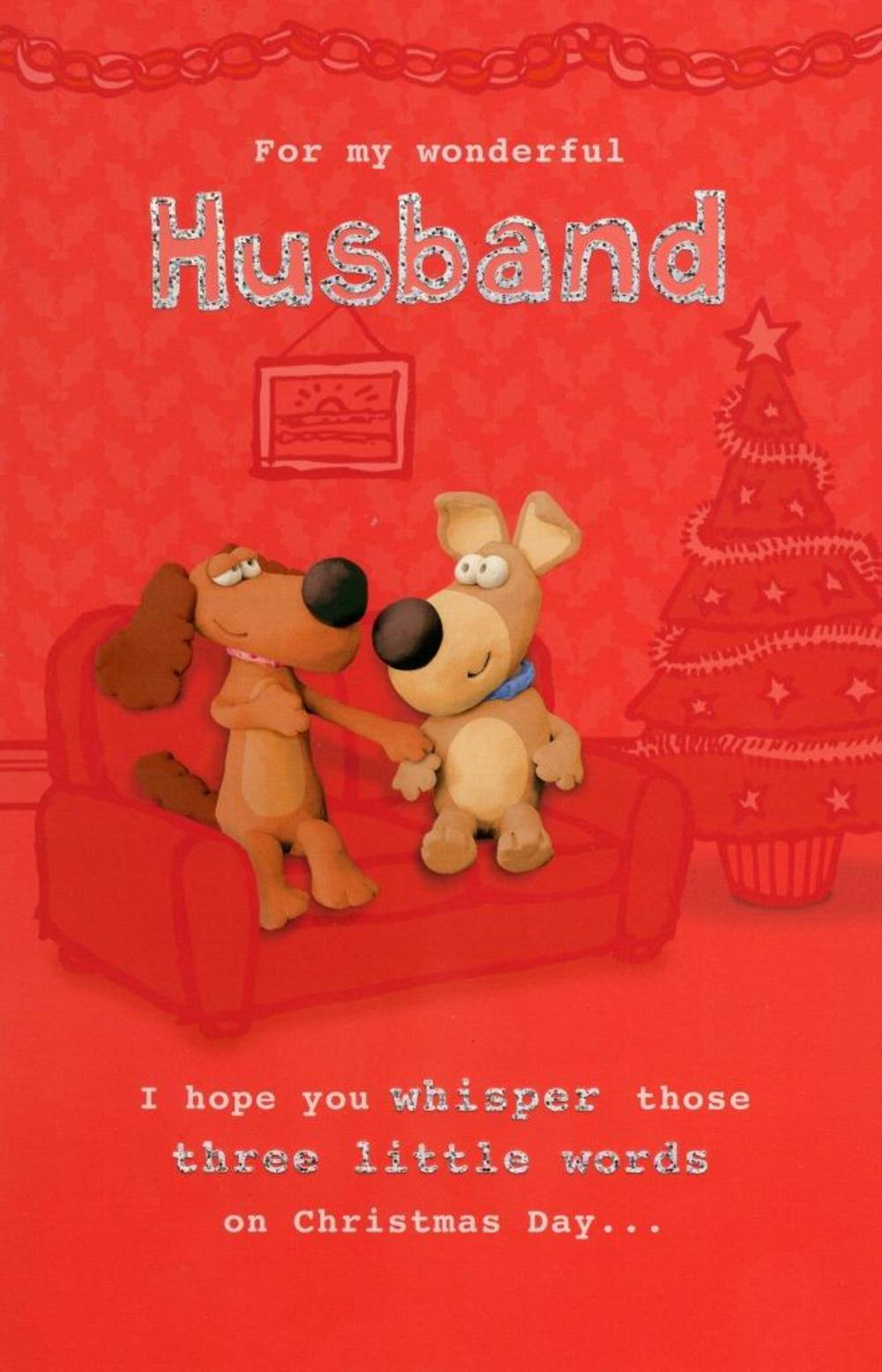 Husband Funny Christmas Greeting Card