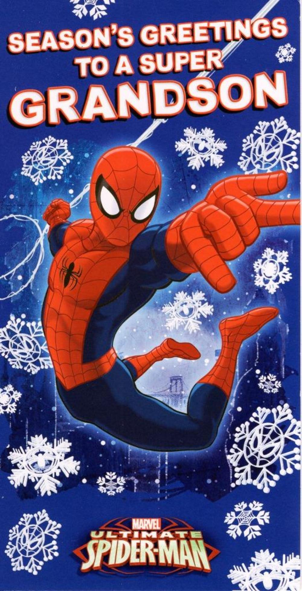 Grandson Spiderman Christmas Money Wallet Gift Card