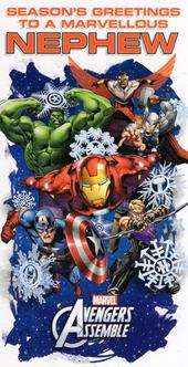 Nephew Avengers Christmas Money Wallet Gift Card