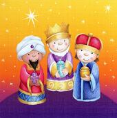 Pack of 16 Mini We Three Kings Christmas Cards