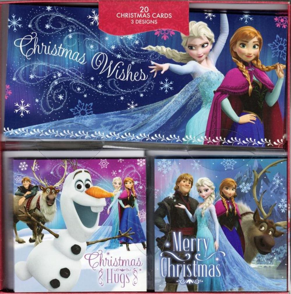 Box of 20 Frozen Themed Assorted Christmas Cards