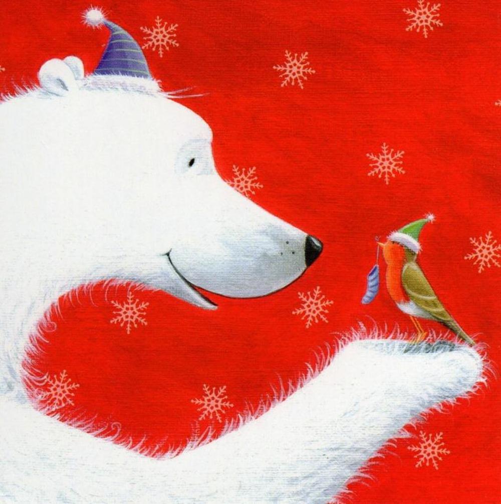 Pack of 16 Mini Polar Bear Christmas Cards