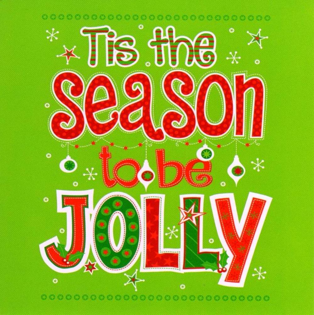 Pack of 16 Mini Tis The Season Christmas Cards