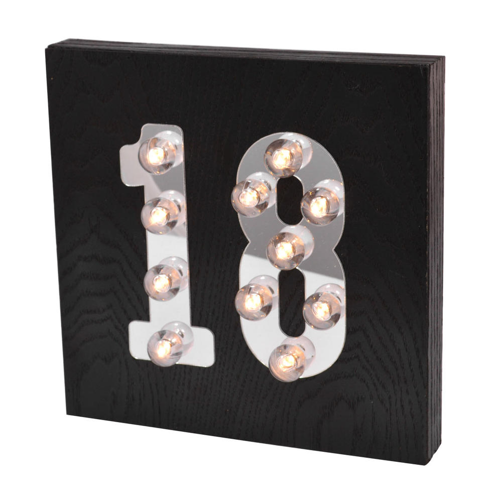 18th Birthday Light Up Block