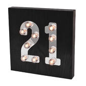 21st Birthday Light Up Block