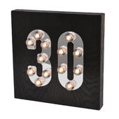 30th Birthday Light Up Block