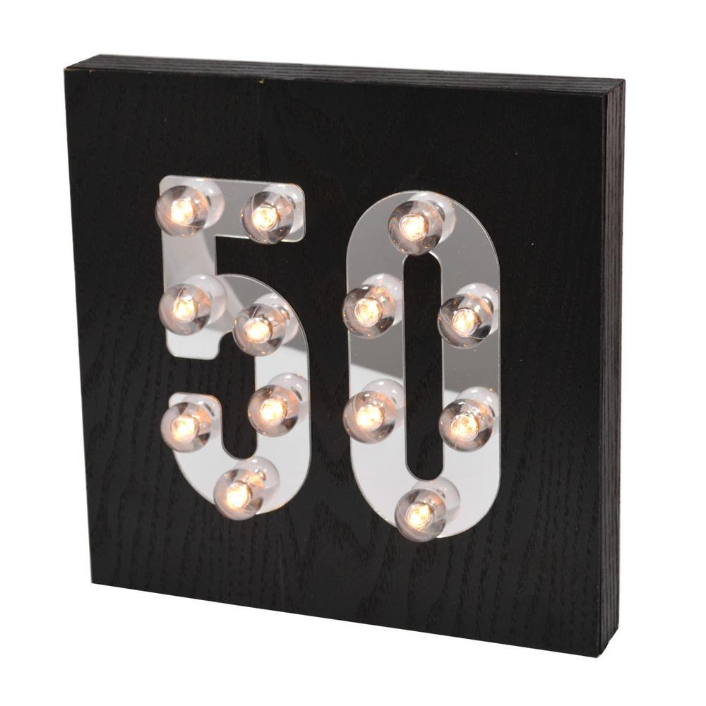50th Birthday Light Up Block