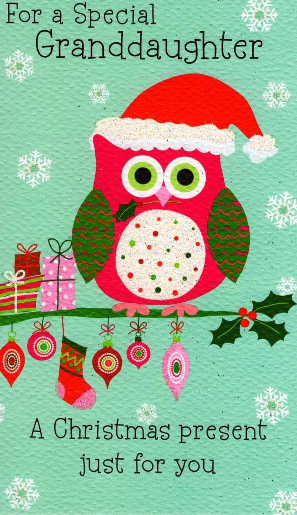 Granddaughter Moneyholder Christmas Gift Card