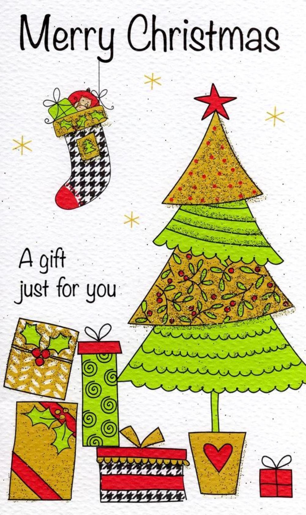 Merry Christmas Moneyholder Christmas Gift Card