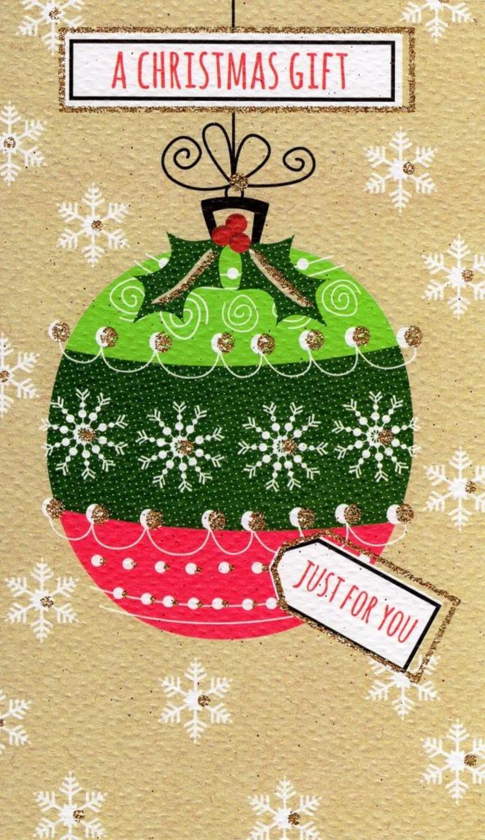 A Christmas Gift Moneyholder Christmas Gift Card