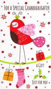 Special Granddaughter Moneyholder Christmas Gift Card