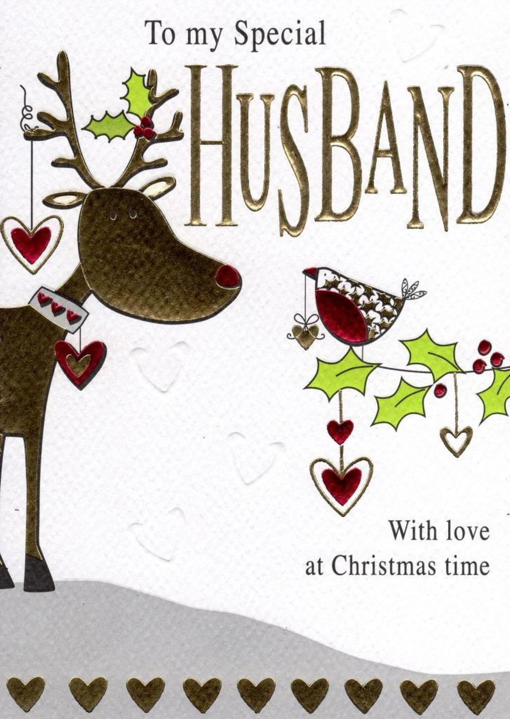 To My Special Husband Christmas Card