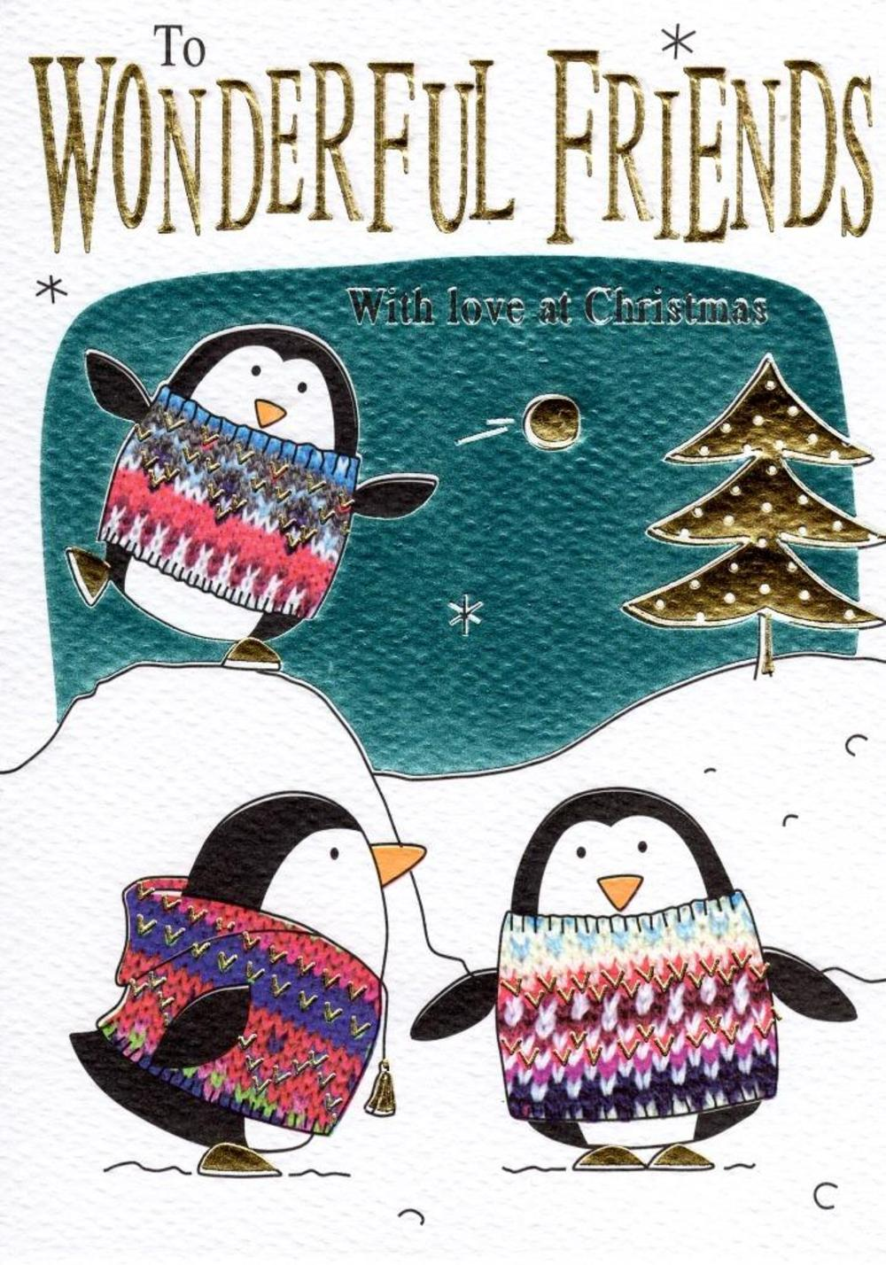 To Wonderful Friends Christmas Card
