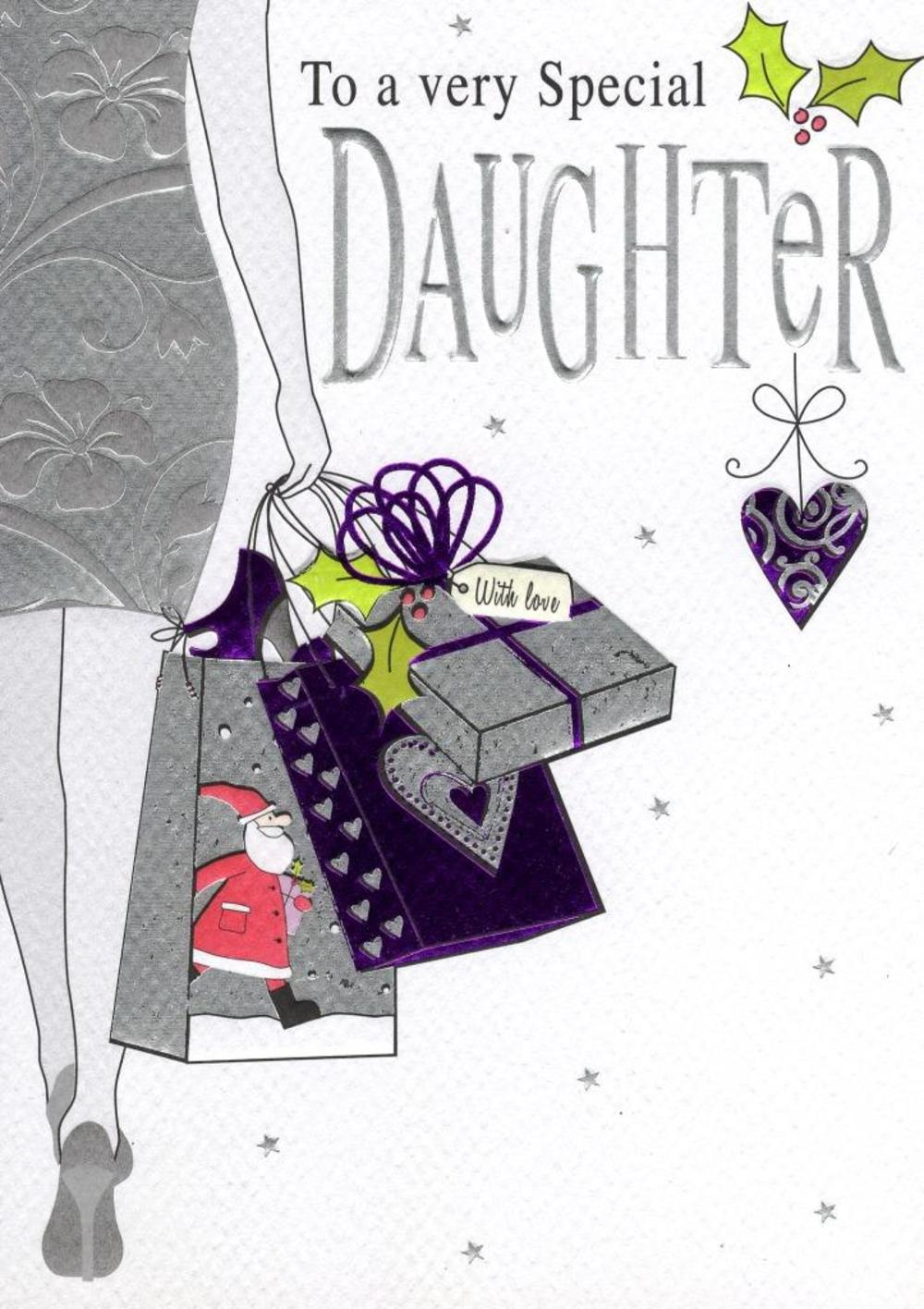 To A Special Daughter Christmas Card