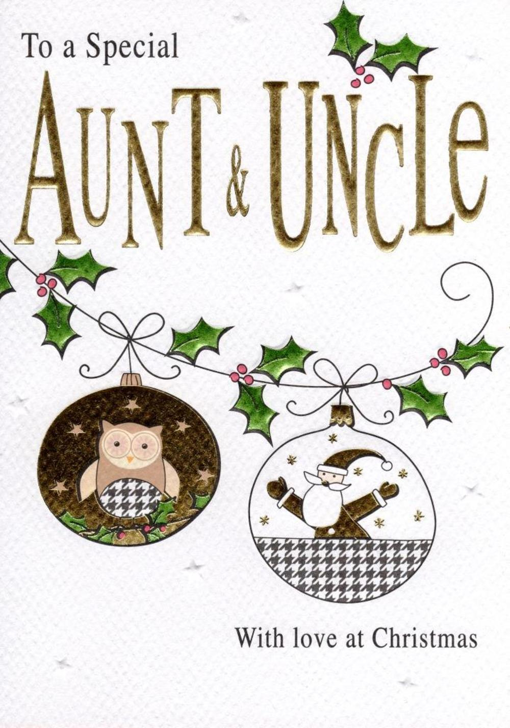 Special Aunt & Uncle Christmas Card