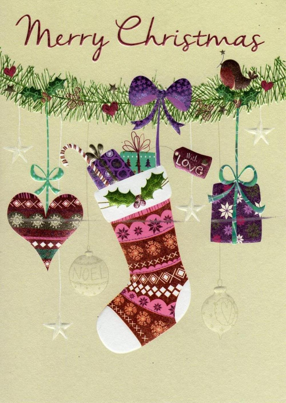 Merry Christmas Individual Xmas Card