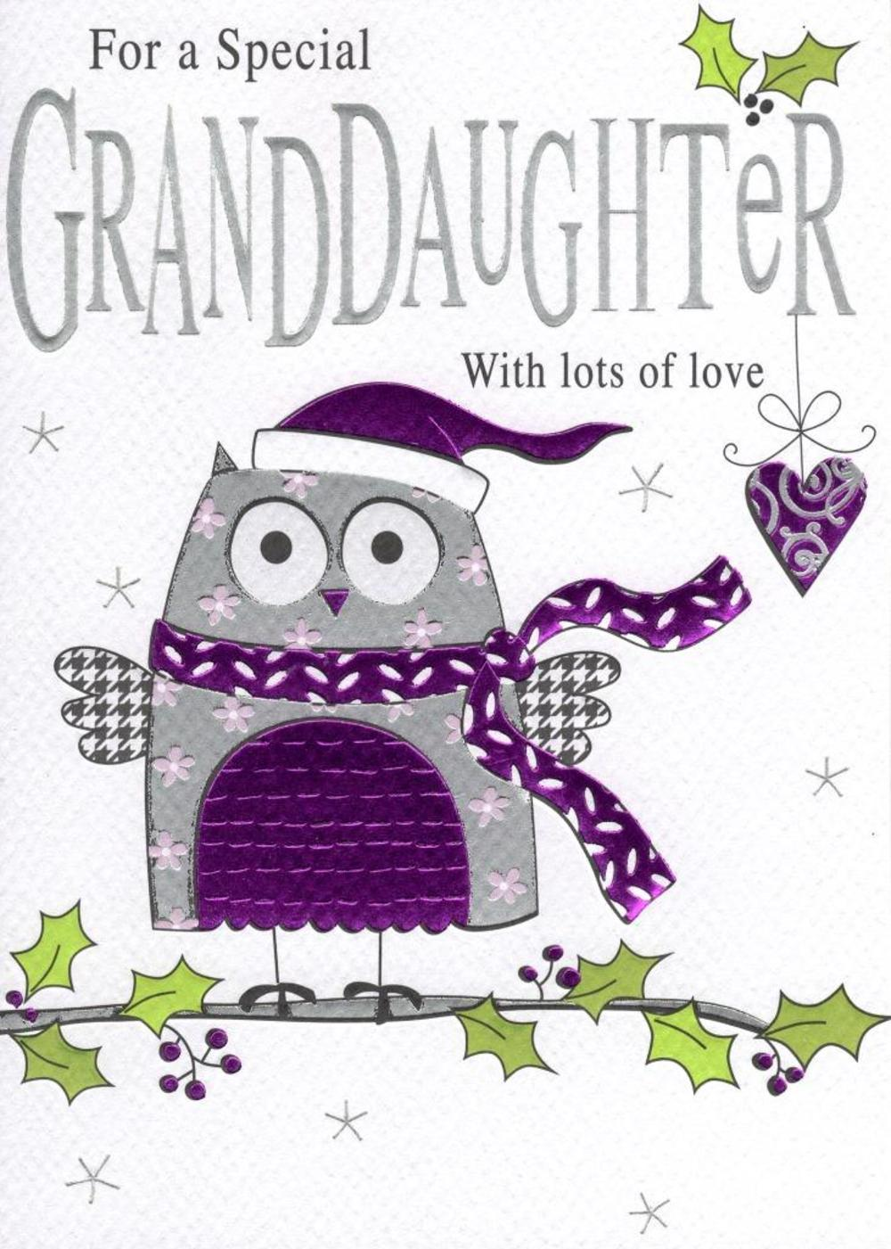 Special Granddaughter Christmas Card