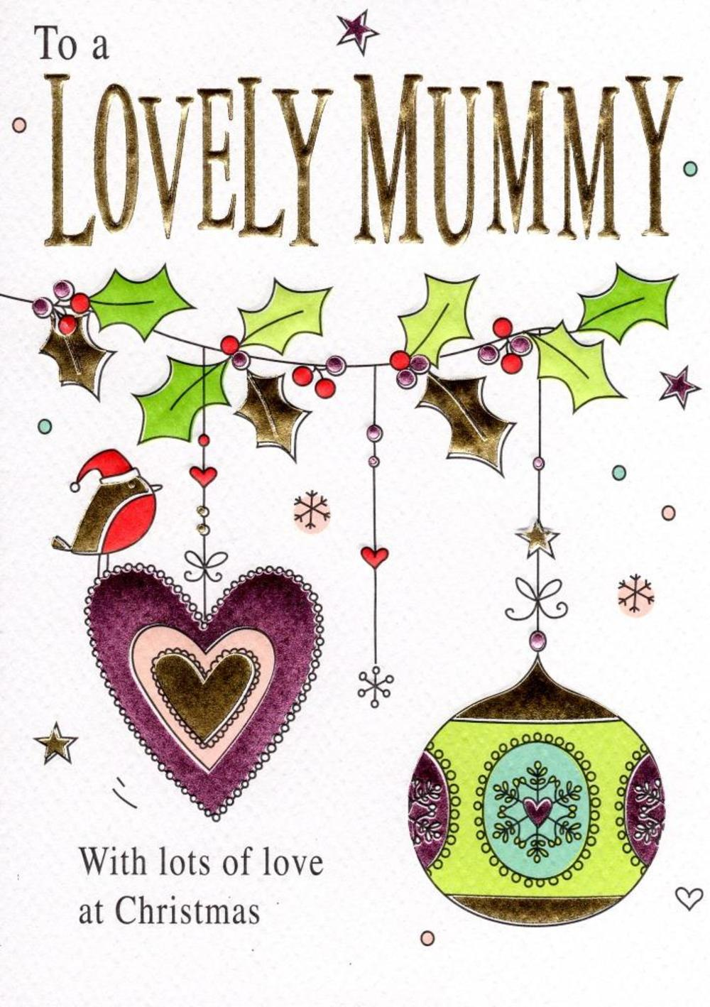 To A Lovely Mummy Christmas Card