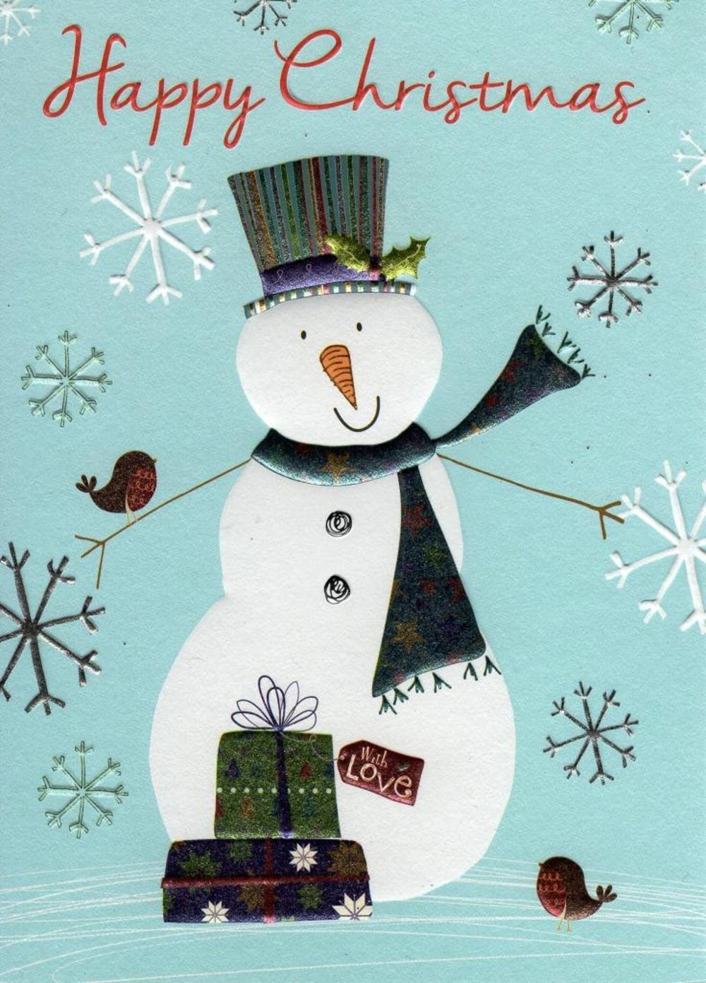 Happy Christmas Individual Xmas Card