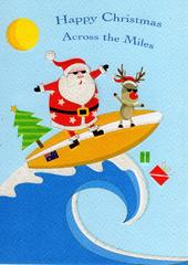 Happy Christmas Across The Miles Xmas Card
