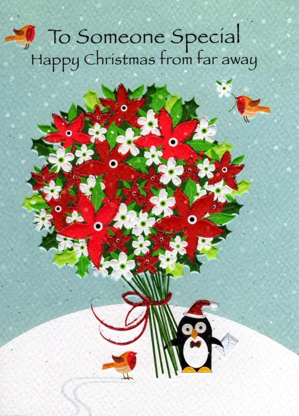 Happy Christmas From Far Away Xmas Card
