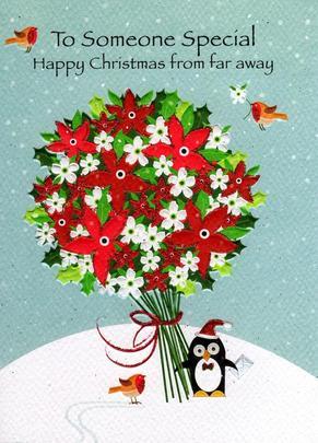 Happy Christmas From Far Away Xmas Card