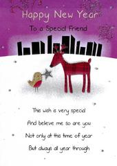 Happy New Year Special Friend Greeting Card