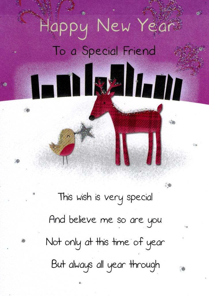 Happy New Year Special Friend Greeting Card | Cards