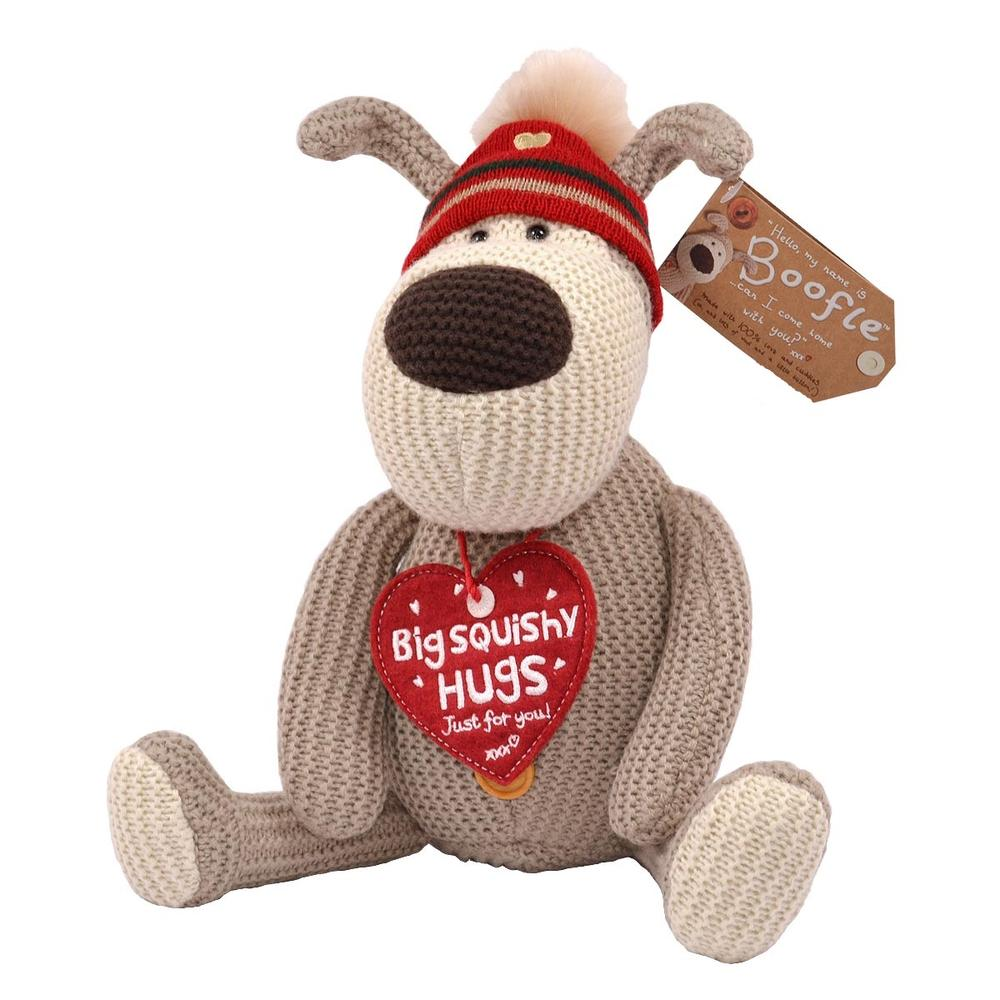 "Boofle Big Squishy Hugs 8"" Sitting Plush Wearing Hat"