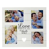 Love Makes It All Worth While Multi Aperture Photo Frame