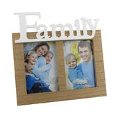 "Family Double Aperture 4"" x 6"" Freestanding Photo Frame"