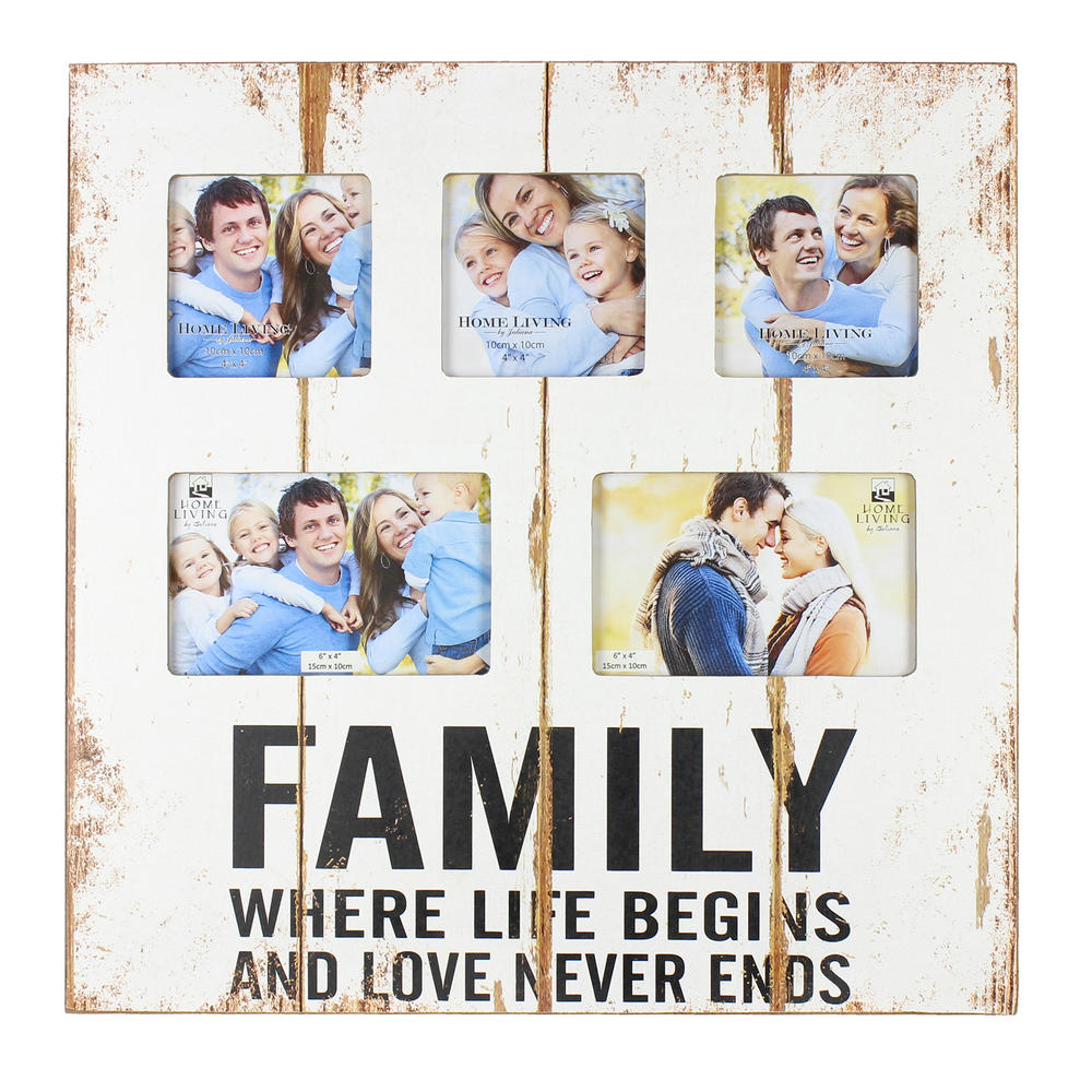 Family, Where Life Begins Collage Multi Aperture Photo Frame