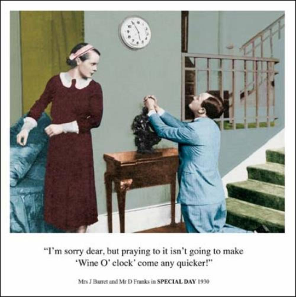 Wine O'Clock Funny Birthday Greeting Card